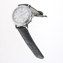 Chopard Imperiale Working Chronograph with Blue MOP Dial-Black Leather Strap