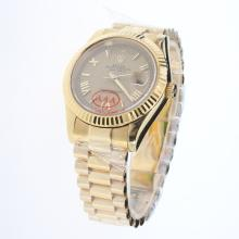 Rolex Day-Date II Automatic Full Gold Roman/Stick Markers with Golden Dial