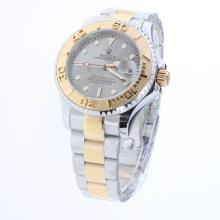 Rolex Yachtmaster Automatic Two Tone with Gray Dial
