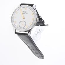 IWC Portuguese Hunter-style 98950-Calibre Manual Winding Movement with White Dial-Leather Strap