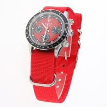 Rolex Daytona Working Chronograph Red Dial with Nylon Strap-Vintage Edition-1