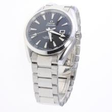 Omega Seamaster Automatic with Black Dial S/S-Same Chassis as ETA Version-1