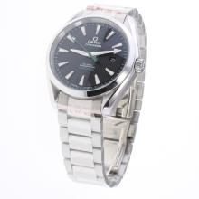 Omega Seamaster Automatic with Black Dial S/S-Same Chassis as ETA Version