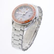 Omega Seamaster Co-Axial Working GMT Swiss CAL 8605 Movement Ceramic Bezel with Gray Dial S/S