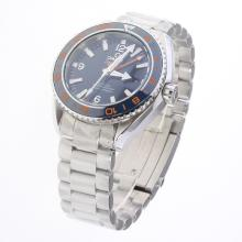 Omega Seamaster Co-Axial Working GMT Swiss CAL 8605 Movement Ceramic Bezel with Blue Dial S/S
