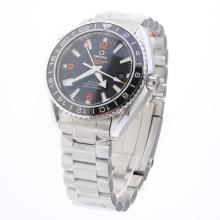 Omega Seamaster Co-Axial Working GMT Swiss CAL 8605 Movement Ceramic Bezel with Black Dial S/S