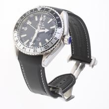 Omega Seamaster Co-Axial Working GMT Swiss CAL 8605 Movement with Black Dial-Rubber Strap