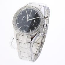 Omega Speedmaster Working Chronograph Swiss 9300 Automatic Movement with Black Dial S/S