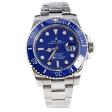 Rolex Submariner Swiss Cal 3135 Movement Ceramic Bezel with Blue Dial S/S