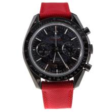 Omega Speedmaster Working Chronograph Swiss 9300 Automatic Movement Ceramic Case with Dragon Totem Dial-Nylon Strap