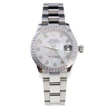 Rolex Datejust Swiss ETA 2836 Movement Diamond Bezel and Markers with MOP Dial S/S-High Quality Version-1