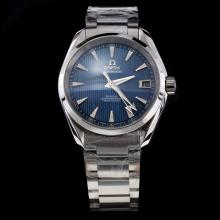 Omega Seamaster Swiss ETA 8500 Movement with Blue Dial S/S-1