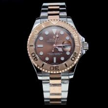Rolex Yachtmaster Automatic Two Tone Ceramic Bezel with Brown Dial