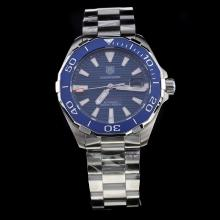 Tag Heuer Aquaracer Calibre 5 Ceramic Bezel Stick Markers with Blue Dial S/S