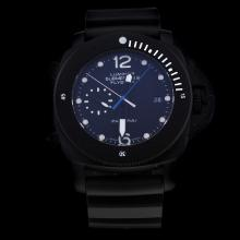 Panerai Lumior Submersible Automatic PVD Case with Black Dial-Rubber Strap-1