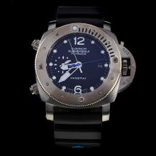 Panerai Lumior Submersible Automatic with Black Dial-Rubber Strap
