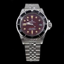 Rolex Submariner Swiss ETA 2836 Movement with Brown Dial S/S-Vintage Editioin