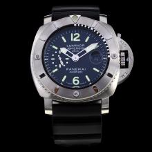 Panerai Luminor Submersible Automatic with Black Dial-Rubber Strap