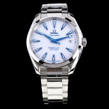 Omega Seamaster Swiss ETA 8500 Movement with White Dial S/S