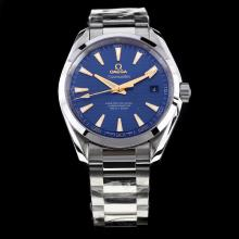 Omega Seamaster Swiss ETA 8500 Movement with Blue Dial S/S