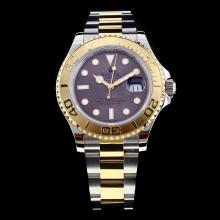 Rolex Yachtmaster Swiss ETA 2836 Movement Two Tone with Gray Dial-High Quality Version