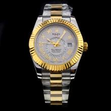 Rolex Sky Dweller Working GMT Automatic Two Tone with Gray Dial