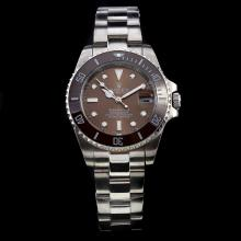 Rolex Submariner Automatic with Brown Ceramic Bezel and Dial S/S-Medium Size
