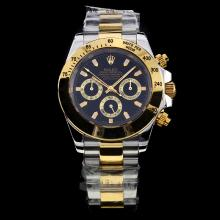 Rolex Daytona Automatic Two Tone Stick Markers with Black Dial