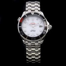 Omega Seamaster Automatic Black Bezel with 007 White Dial-James Bond 50th Anniversary Limited Edition