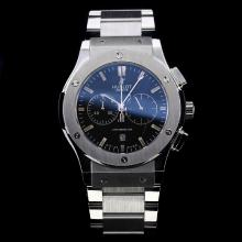 Hublot Big Bang Working Chronograph Stick Markers with Black Dial S/S
