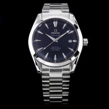 Omega Seamaster Automatic Black Dial with Stick Marking S/S