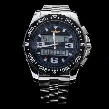 Breitling Emergency Digital Displayer Black Bezel with Black Dial S/S