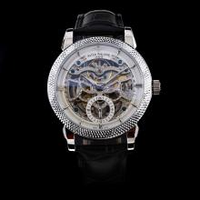 Patek Philippe Automatic with Skeleton Dial-Leather Strap