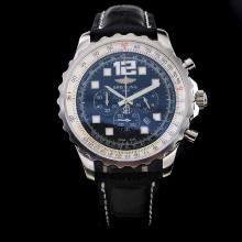 Breitling Chronospace Working Chronograph with Black Dial-Leather Strap
