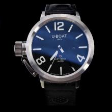 U-Boat Italo Fontana Automatic White Markers with Black Dial-Leather Strap