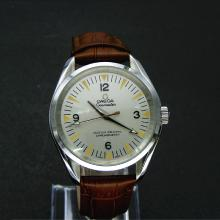 Omega Railmaster Automatic with Silver Dial-Leather Strap