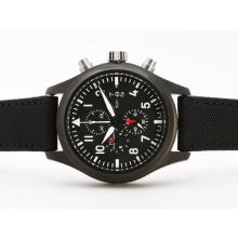 IWC 3789 Top Gun Pilot Arbeiten Chrono PVD Case-selben Chassis Wie 7750 Version-High Quality