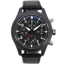IWC 3789 Top Gun Pilot Chrono Asia Valjoux 7750-Full Ceramic Gehäuse Version 2